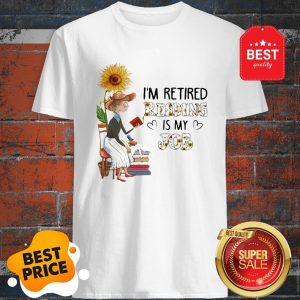 Official I'm Retired Reading Is My Job Sunflower Shirt