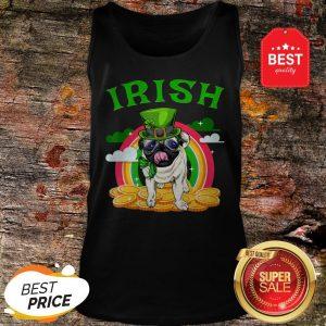 Irish Pug Funny St Patricks Day Leprechaun Dog Tank Top