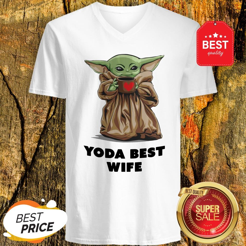 Official Baby Yoda Best Wife V-neck