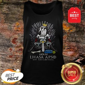 Official House Lhasa Apso Shit Just Got Real Tank Top