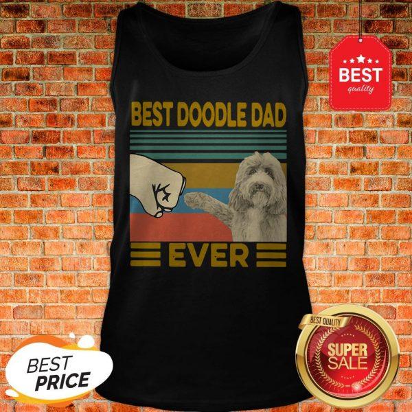 Official Vintage Best Doodle Dad Ever Tank Top