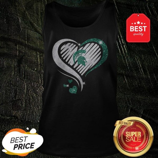 Official Michigan State Spartan Diamond Heart Tank Top