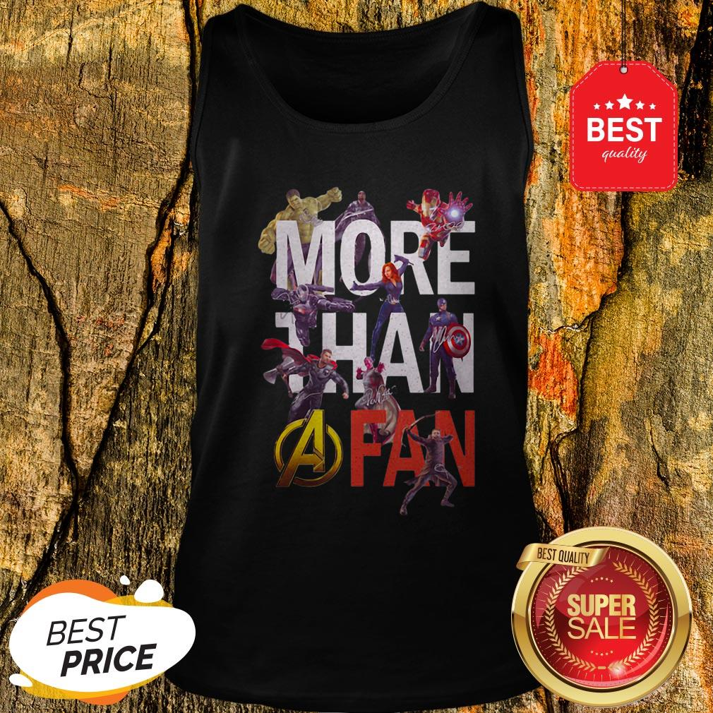 Official Marvel Avengers More Than A Fan Signatures Tank Top