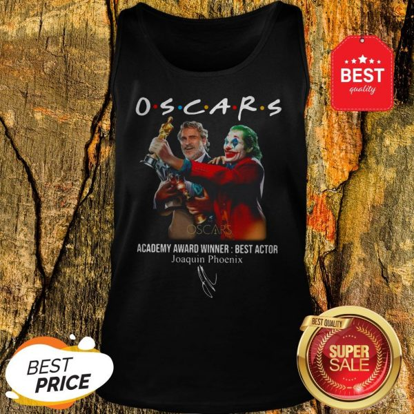 Official Oscars Academy Award Winner Best Actor Joaquin Phoenix Signature Tank Top