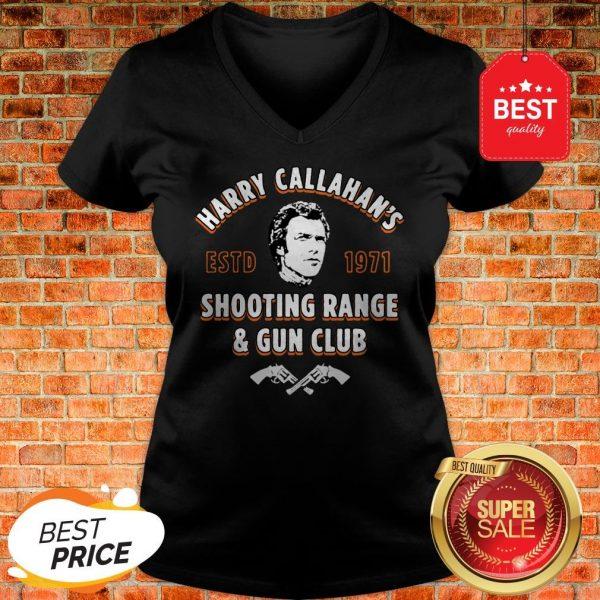 Official Harry Callahan's ESTD 1971 Shooting Range & Gun Club V-Neck