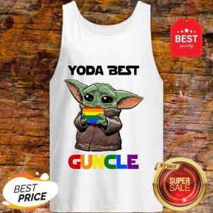Official LGBT Baby Yoda Best Guncle Tank Top