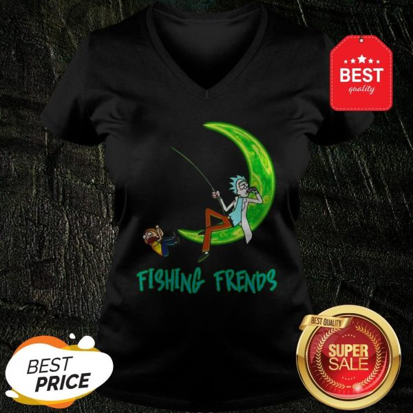 Official Rick And Morty Fishing Friends V-Neck