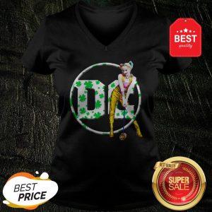 Official St Patrick's Day Harley Quinn DC V-Neck