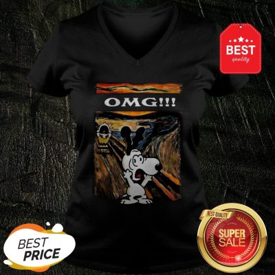 Snoopy And Charlie Brown The Scream Omg Van Gogh V-Neck