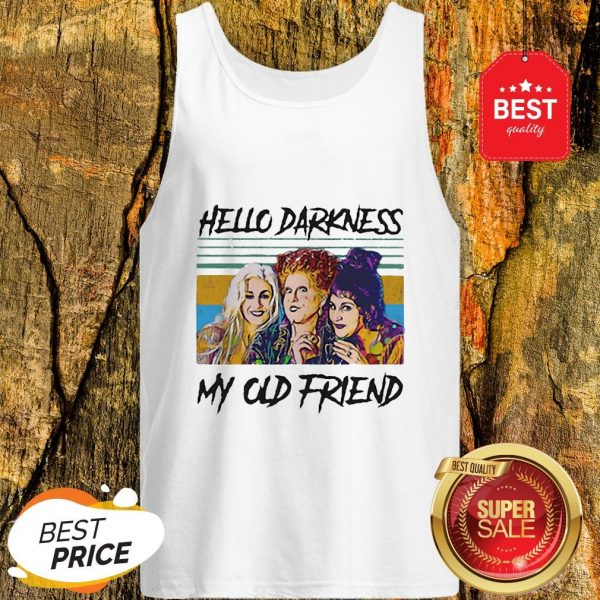 Official Hocus Pocus Hello Darkness My Old Friend Vintage Tank Top