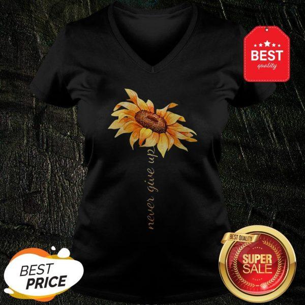 Official Sunflower Never Give Up V-Neck
