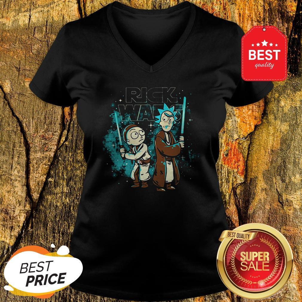 Official Rick And Morty Rick Wars Star Wars V-Neck