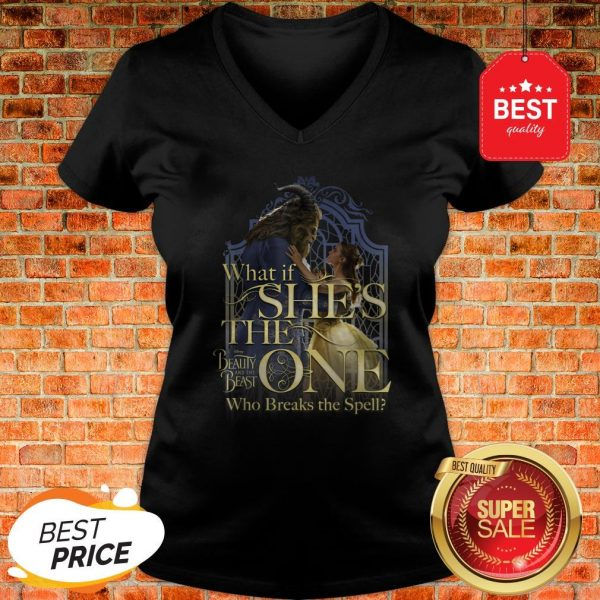 Official Disney Beauty And The Beast Belle Is The One Graphic V-Neck