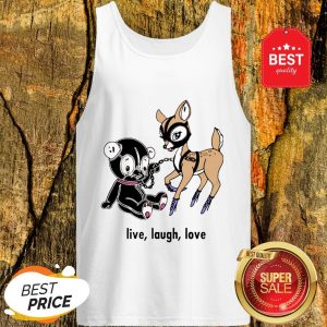 Official Live Laugh Love Valentine Day Tank Top