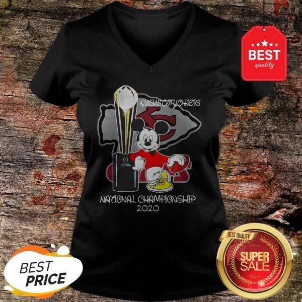 Official Mickey Kansas City Chiefs National Champions 2020 V-Neck
