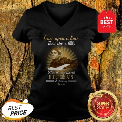 Official Once Upon A Time There Was A Girl Who Really Loved Kurt Cobain V-Neck