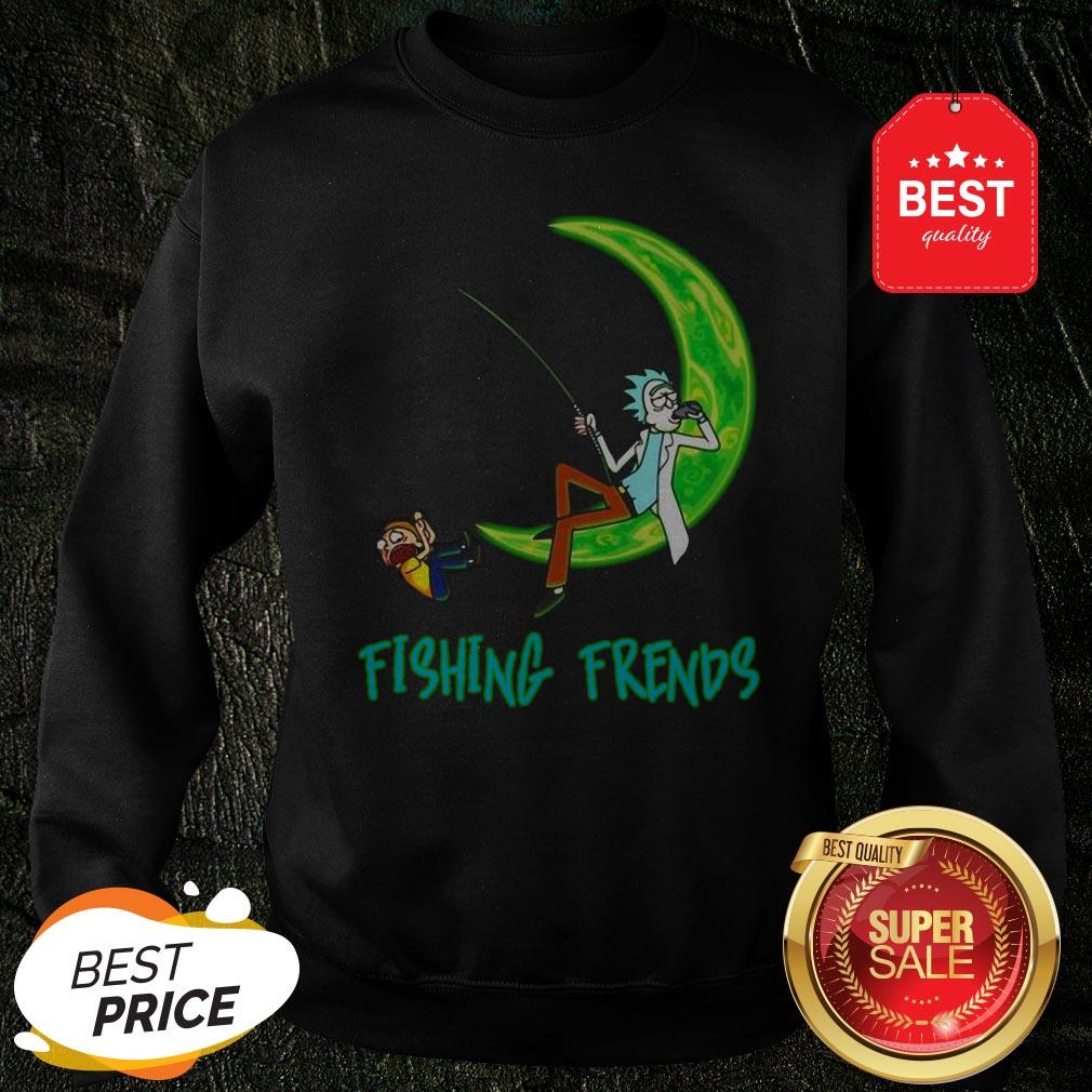 Official Rick And Morty Fishing Friends Sweatshirt