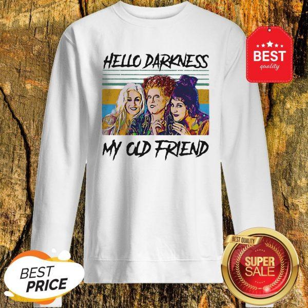 Official Hocus Pocus Hello Darkness My Old Friend Vintage Sweatshirt