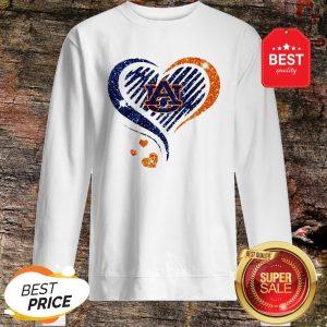 Official Diamond Heart Auburn Tigers Lover Sweatshirt