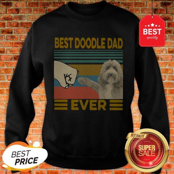 Official Vintage Best Doodle Dad Ever Sweatshirt
