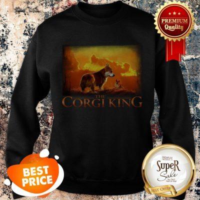 Official The Corgi King Dog Lovers Sweatshirt