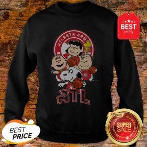 Official The Peanut Atlanta Hawks Basketball Club Atl Sweatshirt