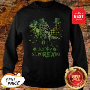 Official T-rex Happy St. Patrex Day St. Patrick's Day Sweatshirt