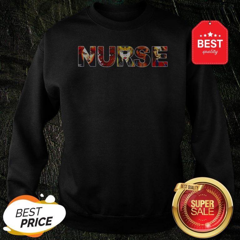 Official Women Superheroes Marvel Nurse Sweatshirt