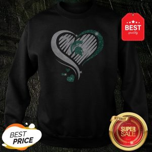 Official Michigan State Spartan Diamond Heart Sweatshirt