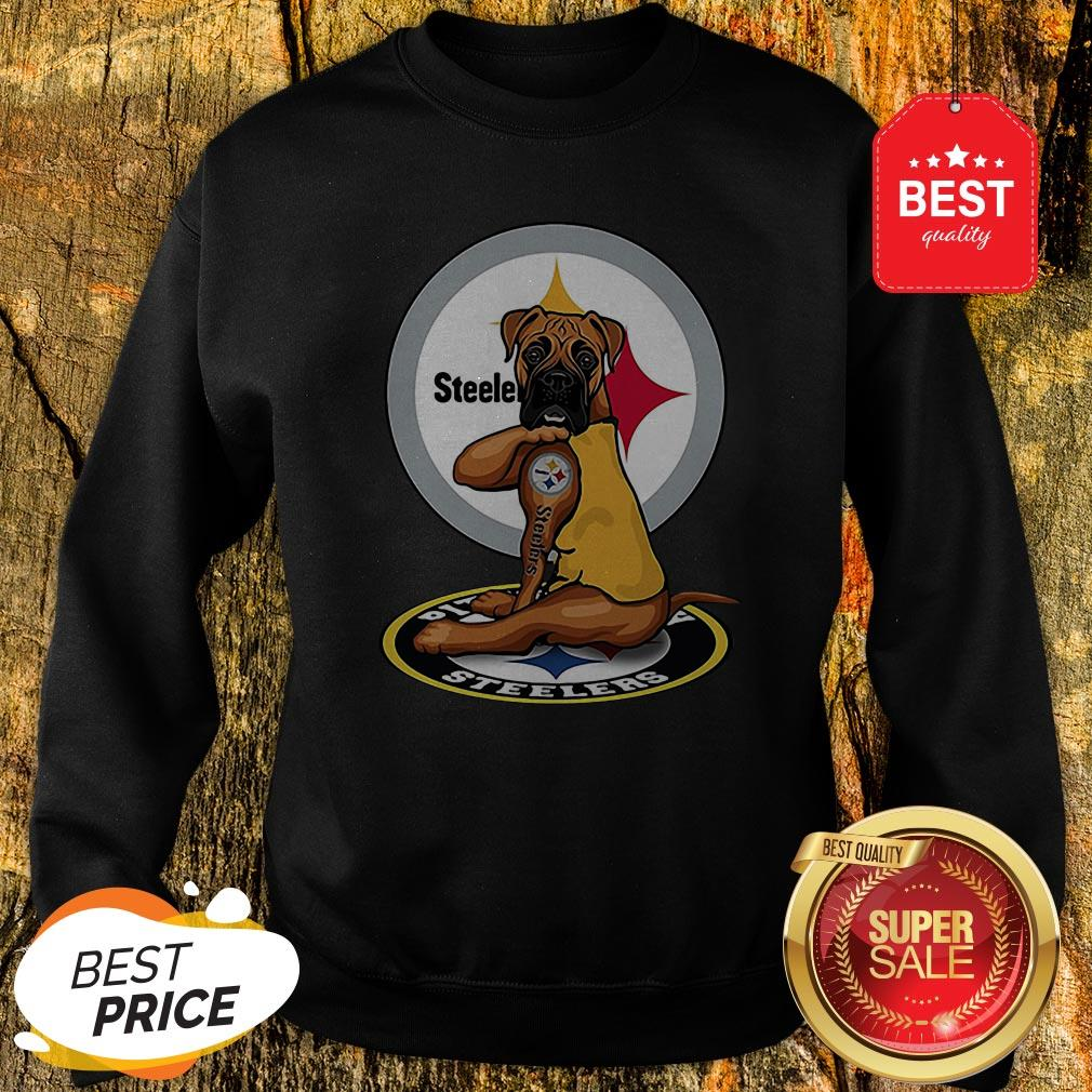 Official Pitbull Tattoo Pittsburgh Steelers Sweatshirt