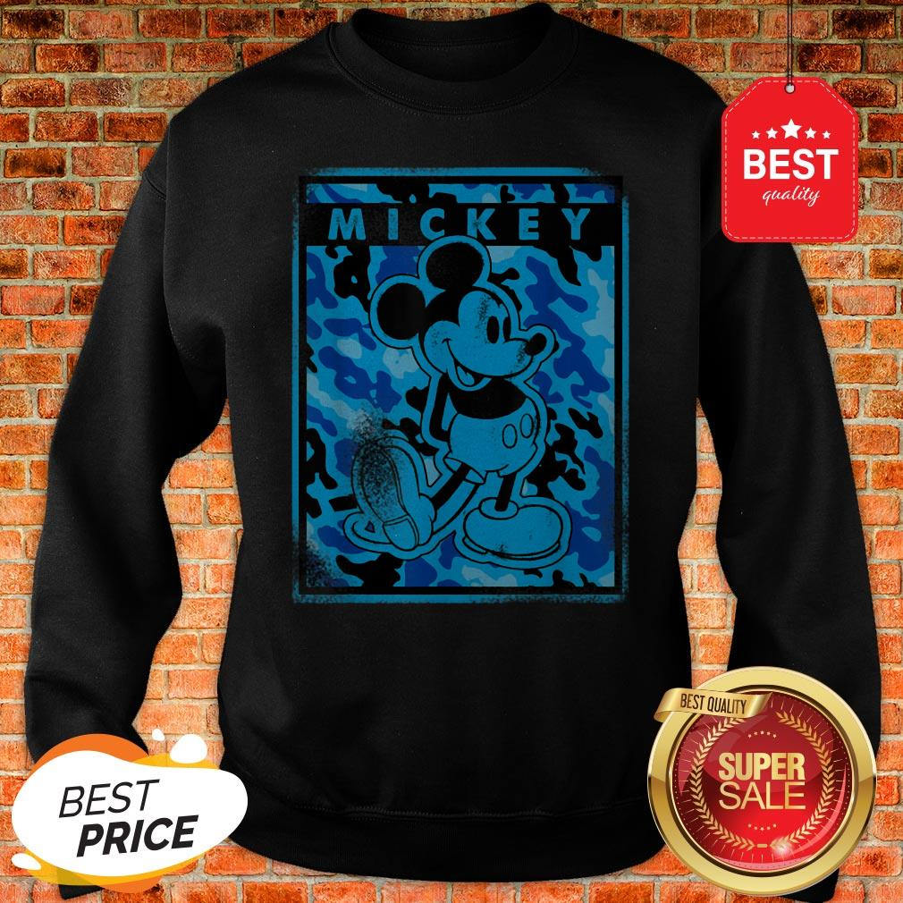 Official Disney Blue Camo Mickey Mouse Nation Sweatshirt