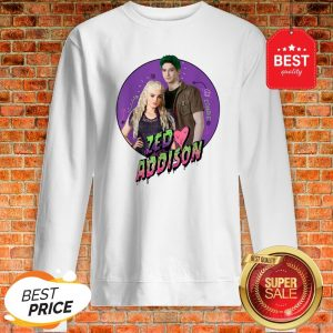 Official Disney Channel Zombies 2 Zed And Addison Love Sweatshirt