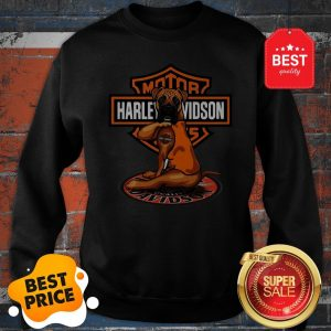 Official Pitbull Tattoo Harley Davidson Motor Sweatshirt
