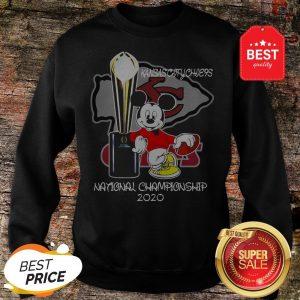 Official Mickey Kansas City Chiefs National Champions 2020 Sweatshirt
