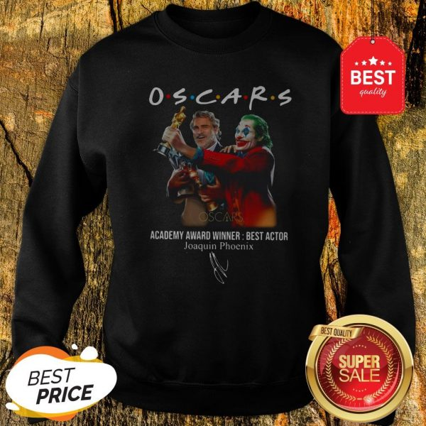 Official Oscars Academy Award Winner Best Actor Joaquin Phoenix Signature Sweatshirt