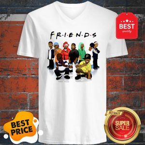Official Friends We Are Black Legends Rapper's V-Neck