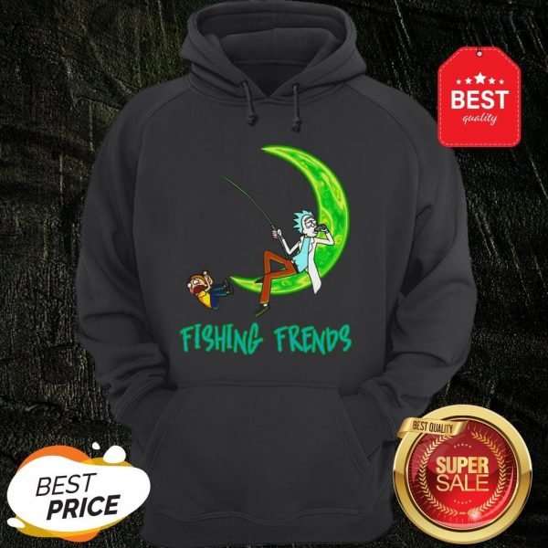 Official Rick And Morty Fishing Friends Hoodie