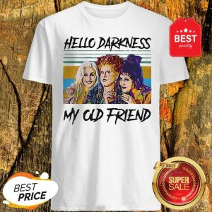 Official Hocus Pocus Hello Darkness My Old Friend Vintage Shirt