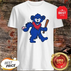 Official Grateful Dead Dancing Bear Baseball Shirt