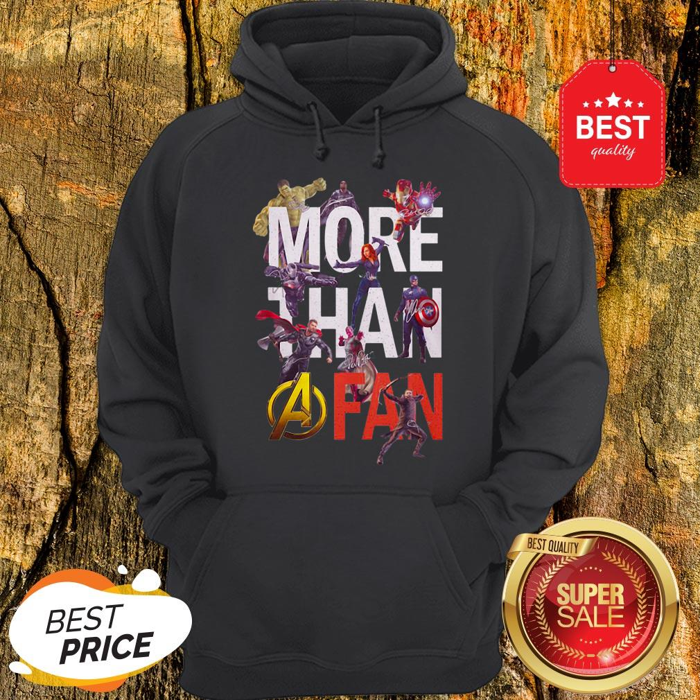 Official Marvel Avengers More Than A Fan Signatures Hoodie