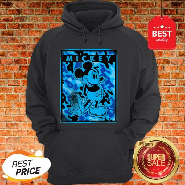 Official Disney Blue Camo Mickey Mouse Nation Hoodie
