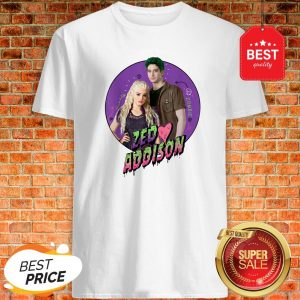 Official Disney Channel Zombies 2 Zed And Addison Love Shirt