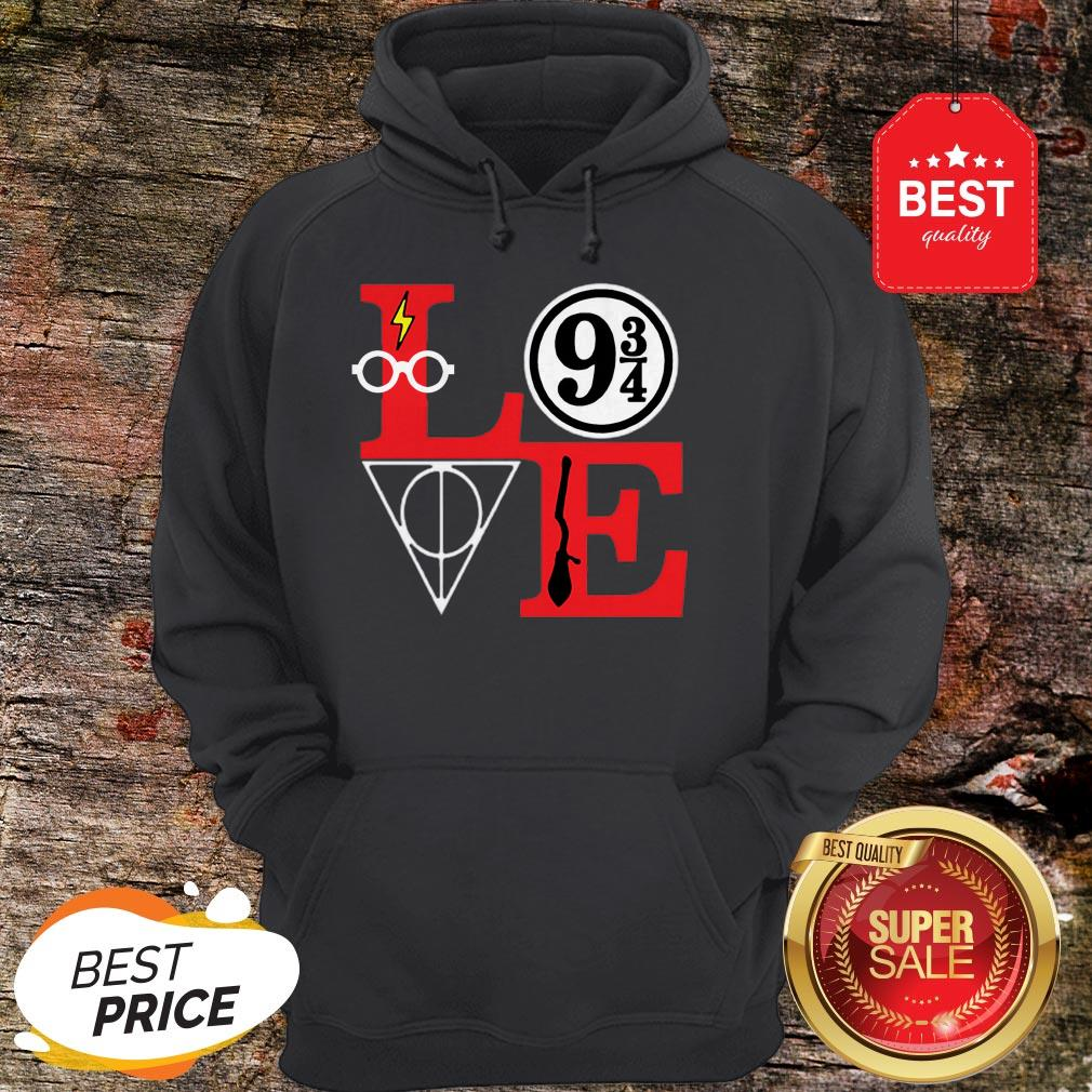 Official Love Harry Potter Platform 9 3 4 Train To Hogwarts Hoodie