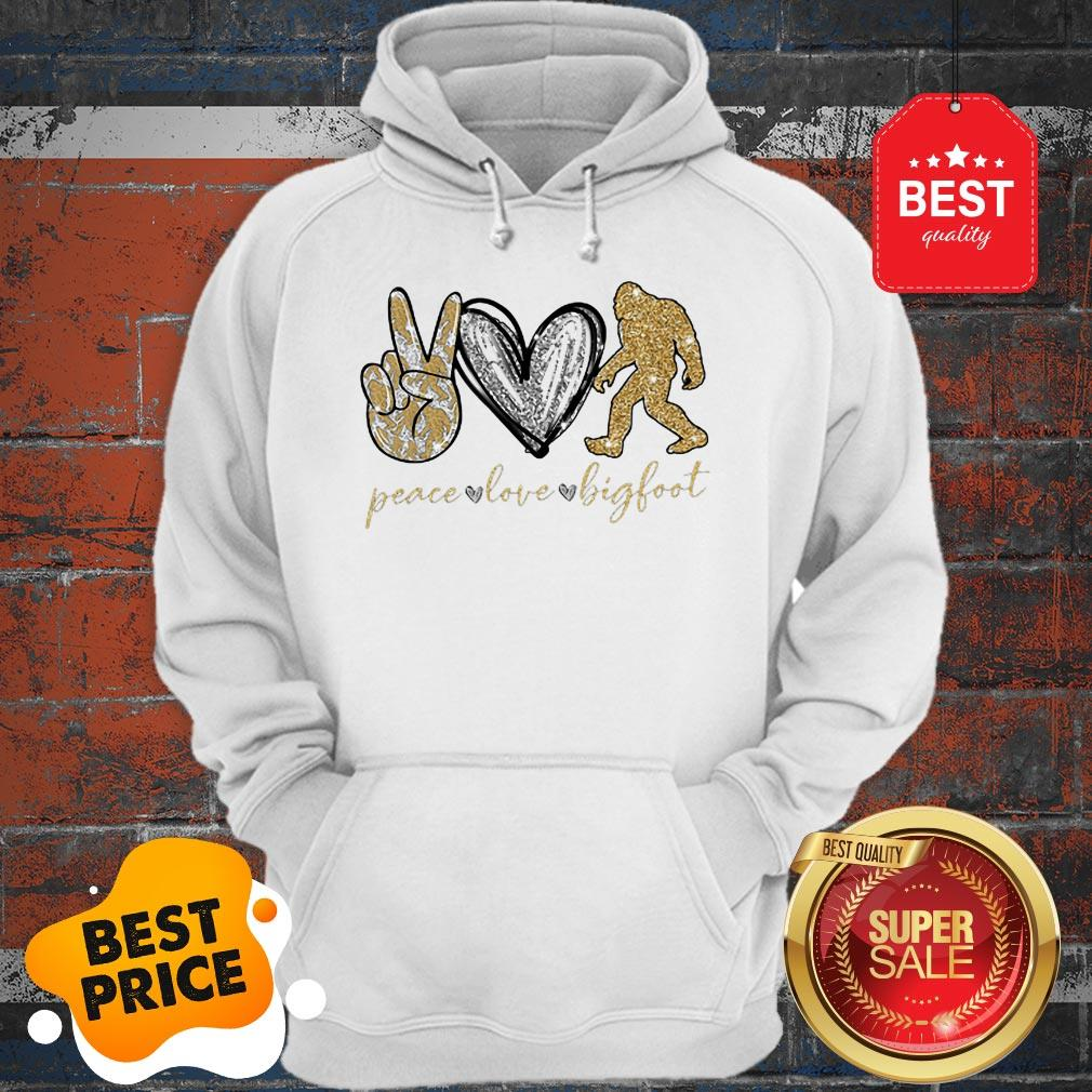 Official Peace Love Diamonds Bigfoot Hoodie