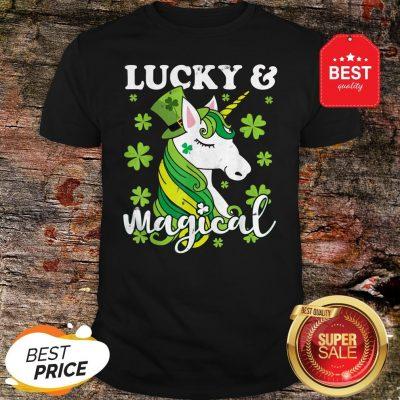 Unicorn Magical St Patricks Day Lepricorn Girl Women Costume Shirt
