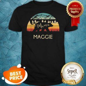 Original Maggie Name Gift Retro Sun Personalized Mama Bear Shirt