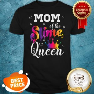 Pretty Mom Of The Slime Queen Crown Birthday Matching Party Outfit Shirt