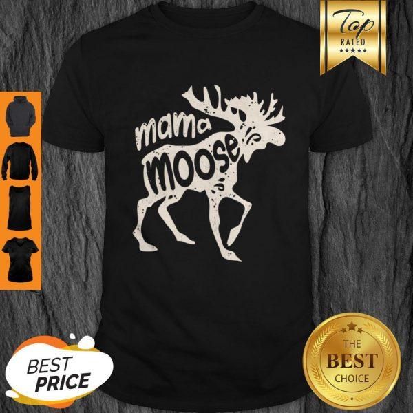 Top Mama Moose Women Mothers Day Family Matching Tees Shirt
