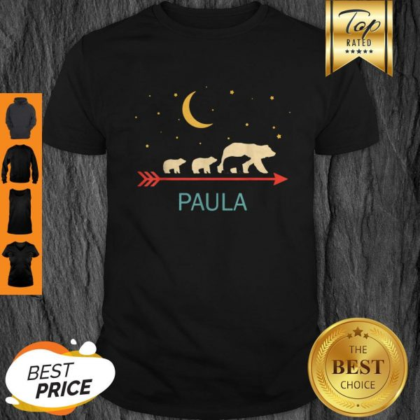 Top Paula Name Gift Personalized Mama Bear With 3 Cubs Shirt