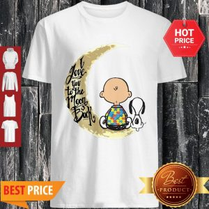 Snoopy Charlie Brown Autism I Love You To The Moon And Back Shirt